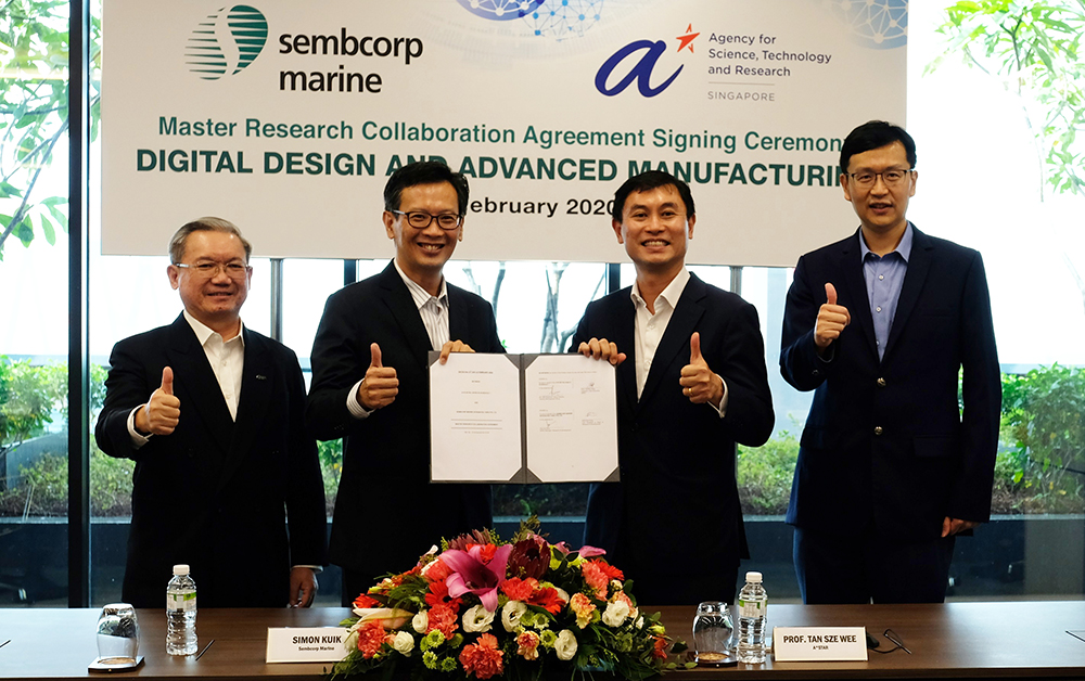 Boosting innovation in Digital Design and Advanced Manufacturing: Sembcorp Marine and A*STAR deepen R&D collaboration