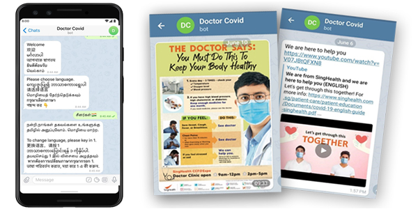 SingHealth and A*STAR co-developed smart chatbot to enhance care for COVID-19 patients at community care facilities