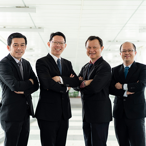 The team behind IEM (from left): Dr Tan Sze Tiong (HDB), Dr Koh Wee Shing (IHPC), Dr Poh Hee Joo (IHPC) and Mr Fachmin Folianto (I2R)