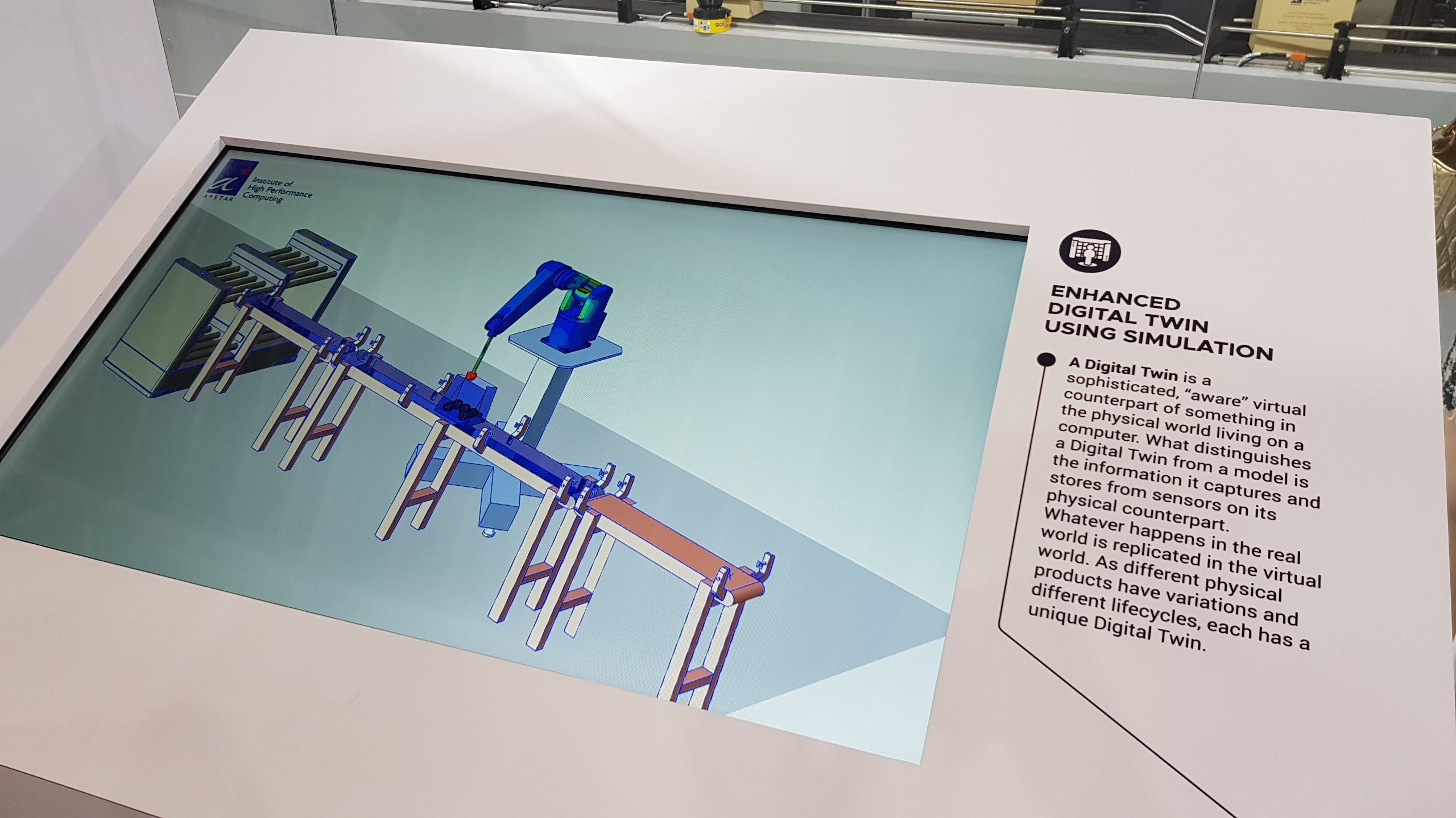 A*STAR Enhanced Digital Twin at ITAP 2019