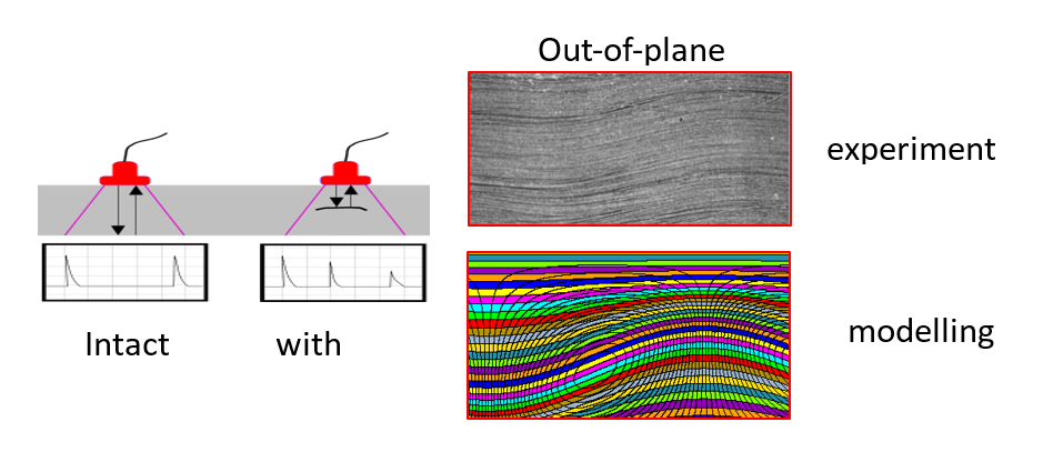 Defect detection (Left) and Out-of-plane waviness detection