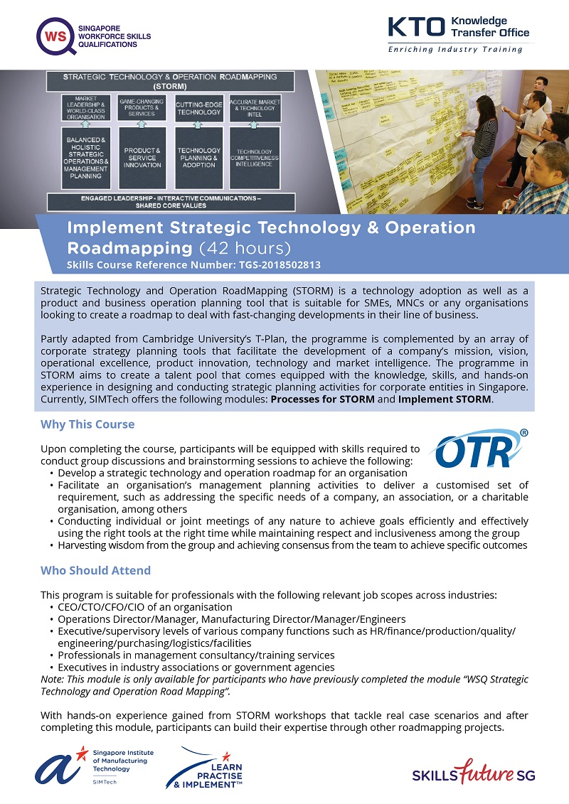 Implement Strategic Technology & Operation Roadmapping