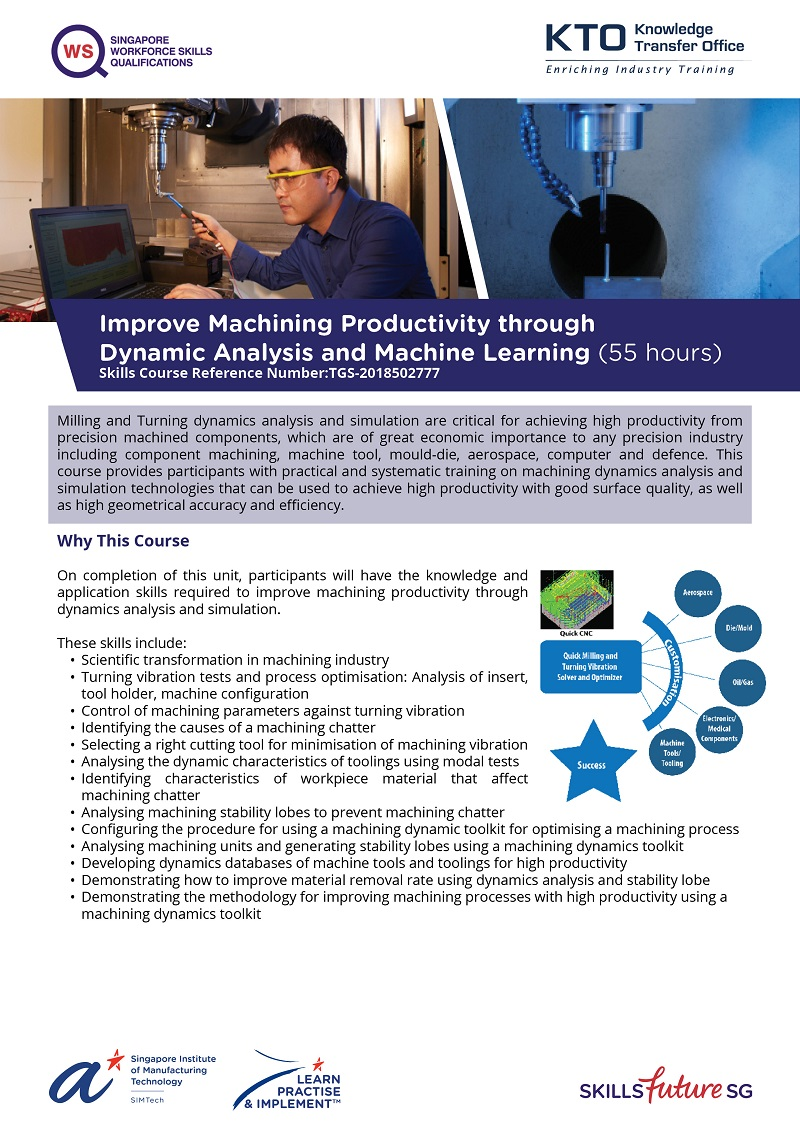 Improve Machining Productivity through Dynamic Analysis and Simulation