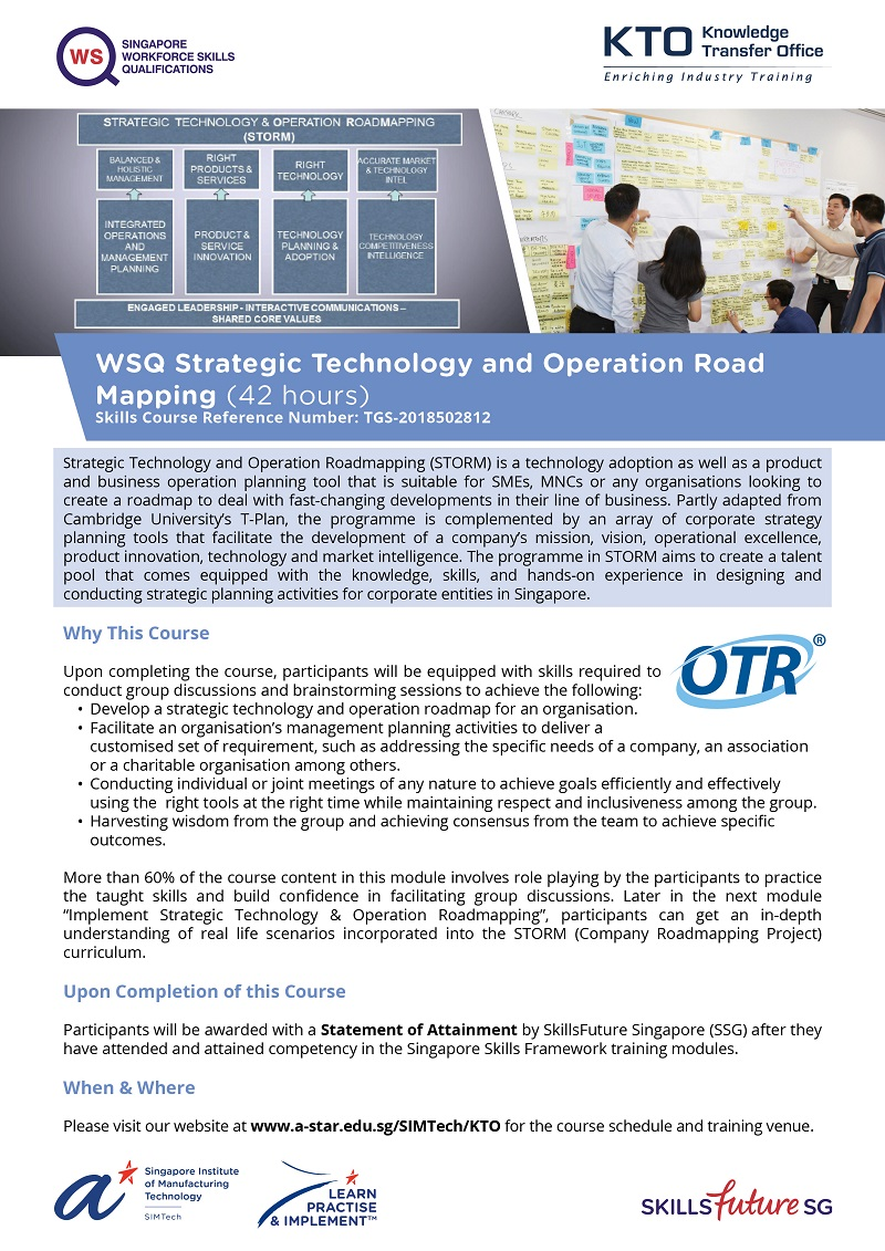 Review Processes for Strategic Technology and Operation Roadmapping
