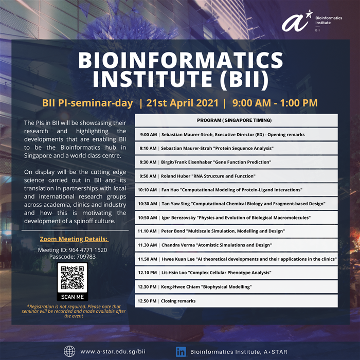 BII PI-Seminar-Day happening on the 21st April 2021